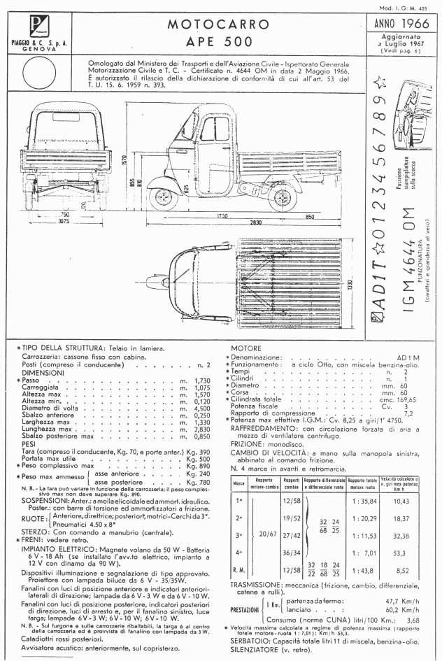 Schema Elettrico Ape 50 Monofaro : Apevintage tecnica